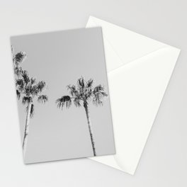 Black Palms // Monotone Gray Beach Photography Vintage Palm Tree Surfer Vibes Home Decor Stationery Cards
