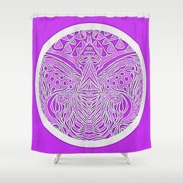 Purple reflection Shower Curtain