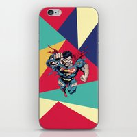 superman iPhone & iPod Skins featuring Superman by Mari Vasilescu