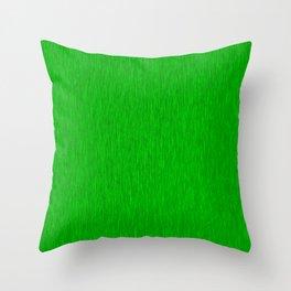 Green Fibre Throw Pillow