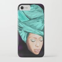 erykah badu iPhone & iPod Cases featuring Badu by Courtney James