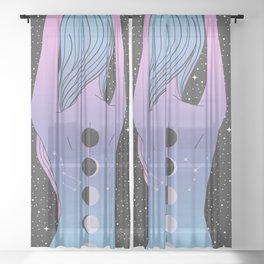 The Moon Tattoo Sheer Curtain