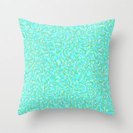Boomerang Aqua Throw Pillow