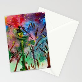Night in the park Stationery Cards
