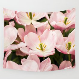 Pink Flowers (Color) Wall Tapestry