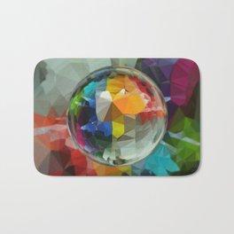 planet rainbow Bath Mat