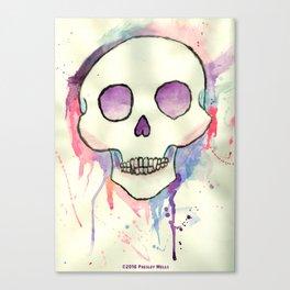 Watercolor Skull by Presley Wells Canvas Print