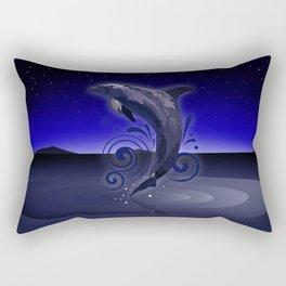 Dolphin - Night Rectangular Pillow