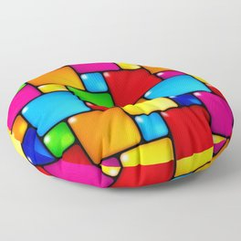 Colors and squares Floor Pillow