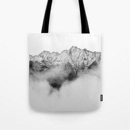 Peaks on the Mist Tote Bag