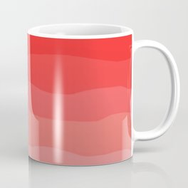 Red Strawberries and Cream Ombre Coffee Mug