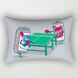 Beer Pong Rectangular Pillow