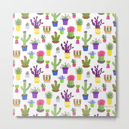 The Potted Cactus Metal Print