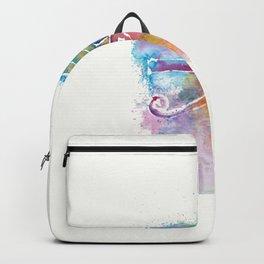 Eye of Horus Watercolor Illustration Backpack