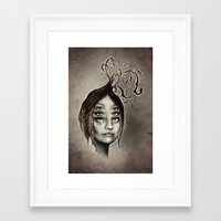copper Framed Art Prints featuring Copper by Lisa Lan