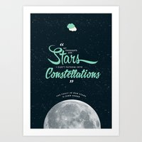 the fault in our stars Art Prints featuring The Fault in Our Stars by thatfandomshop