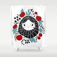 carpe diem Shower Curtains featuring Carpe diem by martuka
