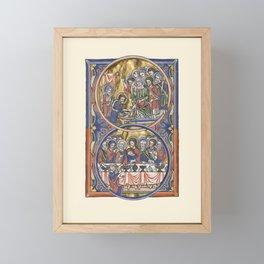 Jesus and 12 Apostles Medieval Miniature Framed Mini Art Print