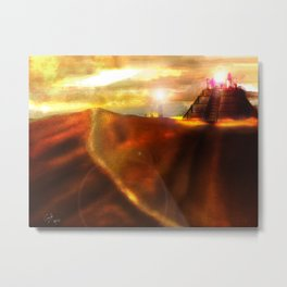 Temple of the Shadows, Ocean of Sand Metal Print
