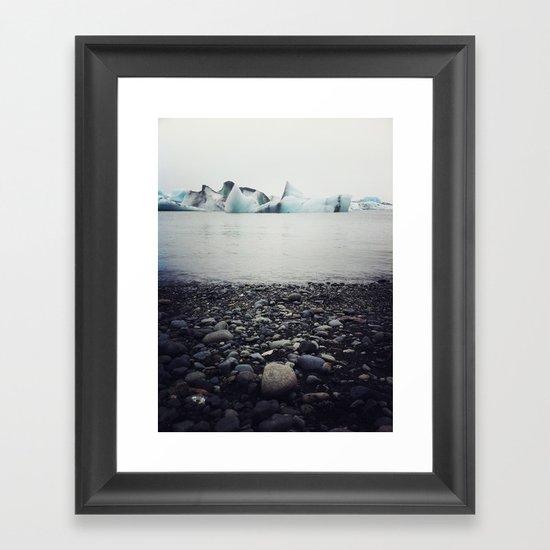 icebergs  Framed Art Print
