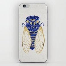 Cicada – Navy & Gold iPhone & iPod Skin
