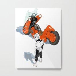 Biker Scout With Taste Metal Print