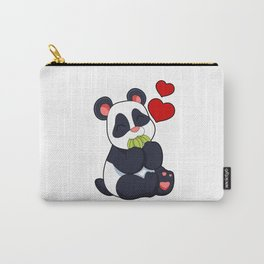 Panda at Eating of Leaves Carry-All Pouch