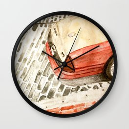 Taxicab in Baltimore Wall Clock