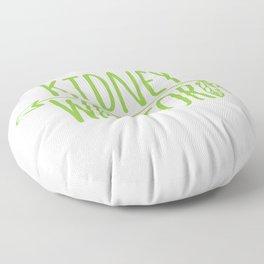 Kidney Warrior Floor Pillow