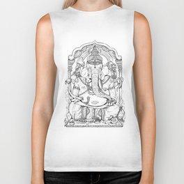 Ganesha Lineart Biker Tank