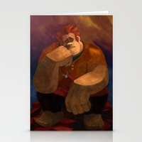 wreck it ralph Stationery Cards featuring Vermeer Ralph by Zimeta