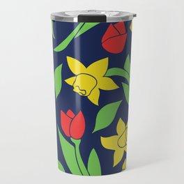 Springtime Floral Travel Mug