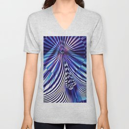 7694s-KMA Abstract Blue Nude Intimate Sexy Hot Unisex V-Neck
