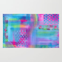 Pink with Blue Dots Rug
