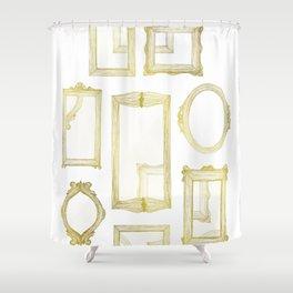 Golden Frames Shower Curtain