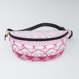 Chic girly pink watercolor aztec pattern Fanny Pack