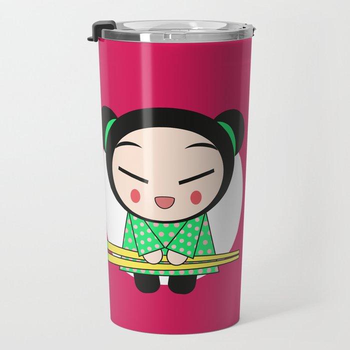 Funny Japanese Girls Travel Mug