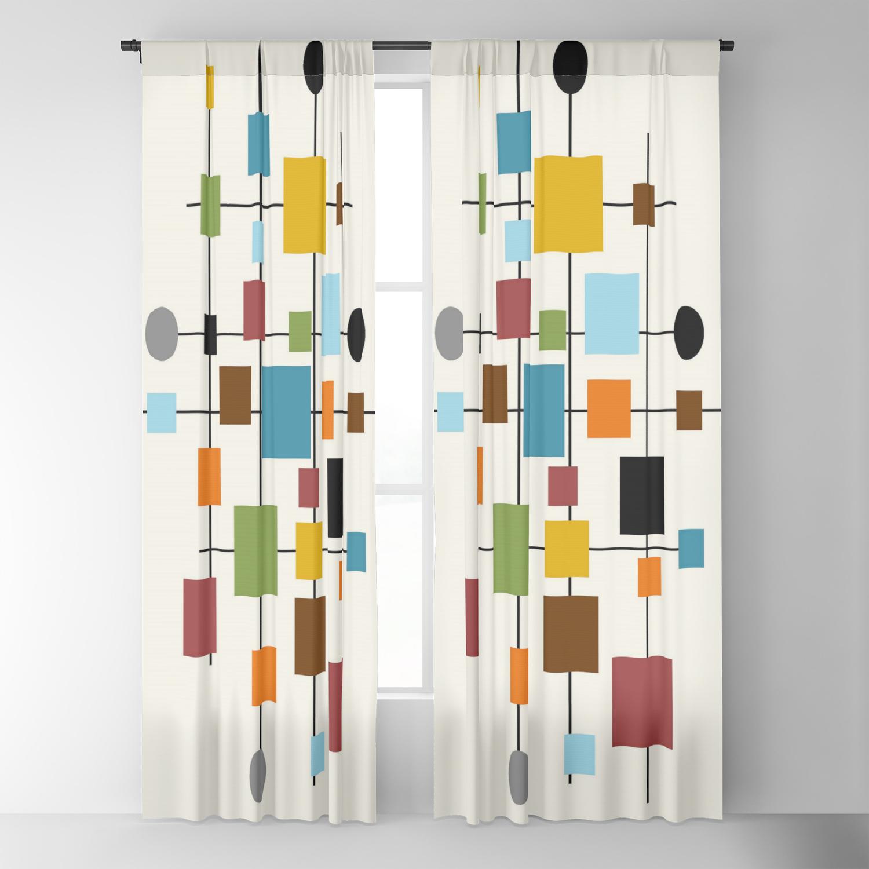 Image of: Mid Century Modern Art 1 3 Blackout Curtain By Oldurbanfarmhouse Society6