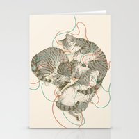 cats Stationery Cards featuring cats by Laura Graves