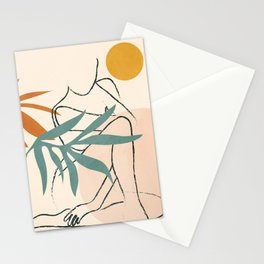 Minimal Line in Nature II Stationery Cards