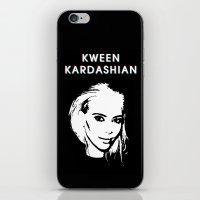 kardashian iPhone & iPod Skins featuring KWEEN kardashian by Tiaguh