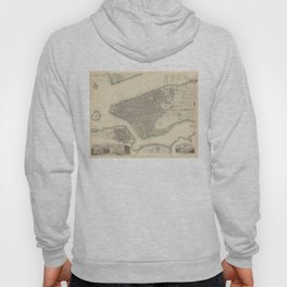 Vintage Map of Lower New York City (1840) Hoody