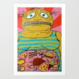 Full Fatty Boyfriend Art Print