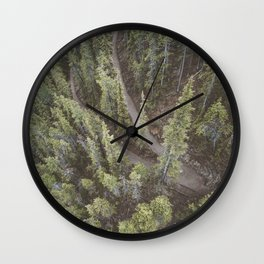 Forest Landscape Photography   Ariel View   Banff Gondola   Alberta   Canada Wall Clock
