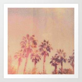 Peach Palms Art Print