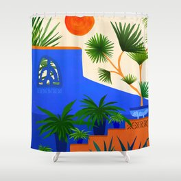 Southwest Summer Garden / Desert Landscape Shower Curtain