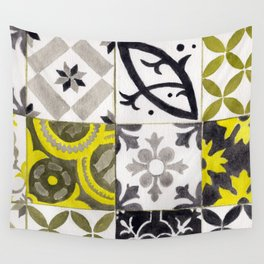 JD_tiled floor1–gouache Wall Tapestry