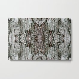 Abstract Bark Pattern - Maple & Lichen - Natural Patterns Old Mossy Maple Tree Bark Metal Print