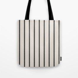Minimal Triangles - Black & White Tote Bag