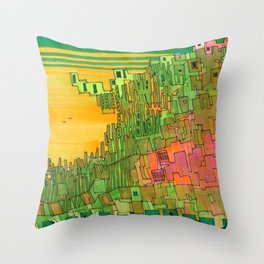 Seaweed City Throw Pillow